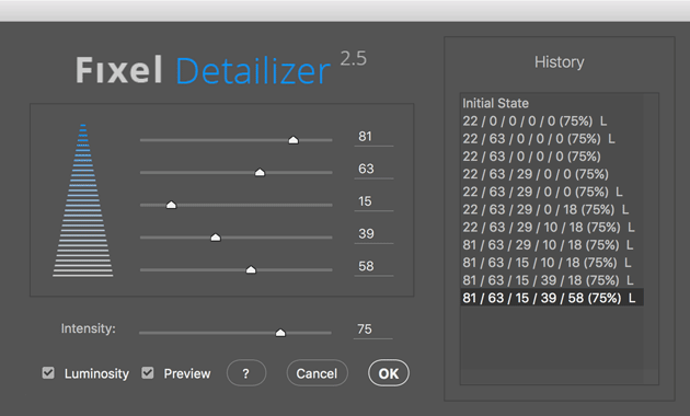 Fixel Detailizer 2 User Interface (UI)